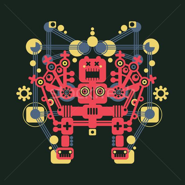большой красочный робота монстр зеленый ночь Сток-фото © ekapanova