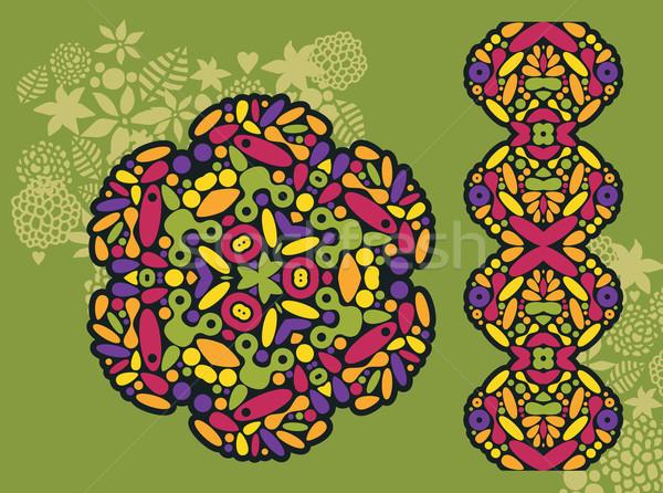 Decoração psicodélico padrão vetor colorido Foto stock © ekapanova