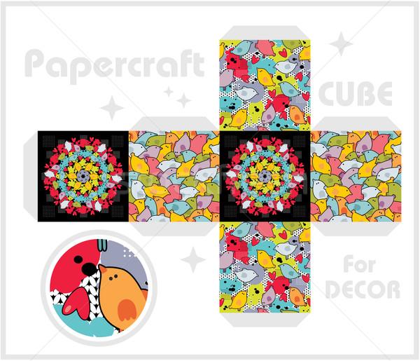 бумаги куб детей играх украшение текстуры Сток-фото © ekapanova