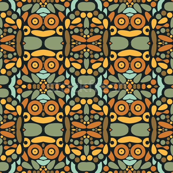 Sem costura psicodélico textura belo padrões vetor Foto stock © ekapanova