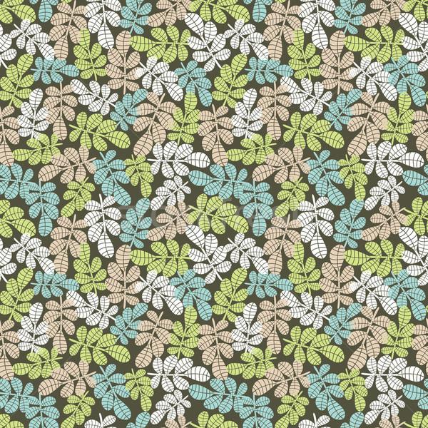 Сток-фото: бесшовный · листьев · вектора · шаблон · лес · природы