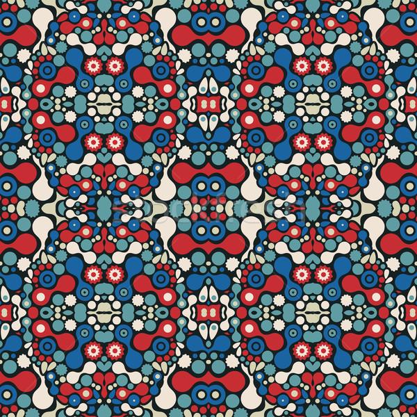 Naadloos abstract mooie psychedelic patroon vector Stockfoto © ekapanova