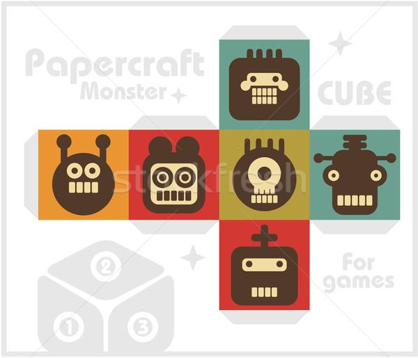 Paper cube for children games and decoration. Stock photo © ekapanova