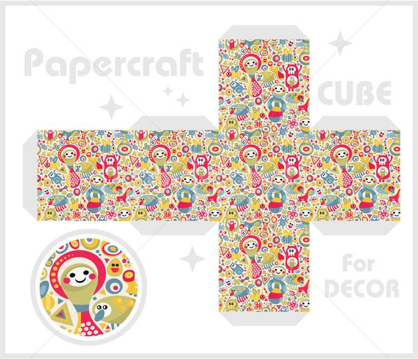 Papier cube enfants jeux décoration texture Photo stock © ekapanova