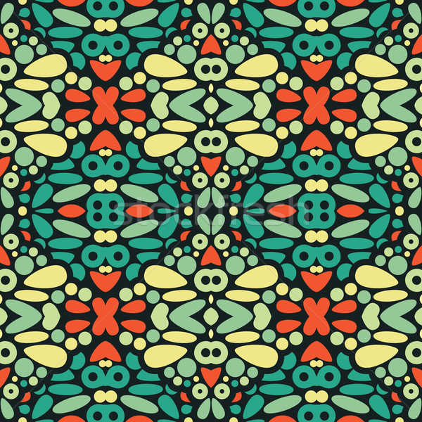 Seamless psychedelic pattern.  Stock photo © ekapanova