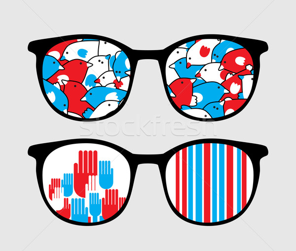 Retro occhiali da sole patriottico riflessione isolato Foto d'archivio © ekapanova