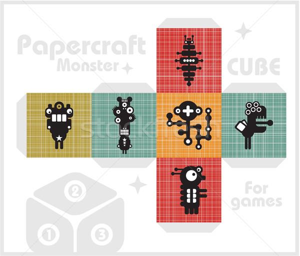 Carta cubo bambini giochi decorazione texture Foto d'archivio © ekapanova
