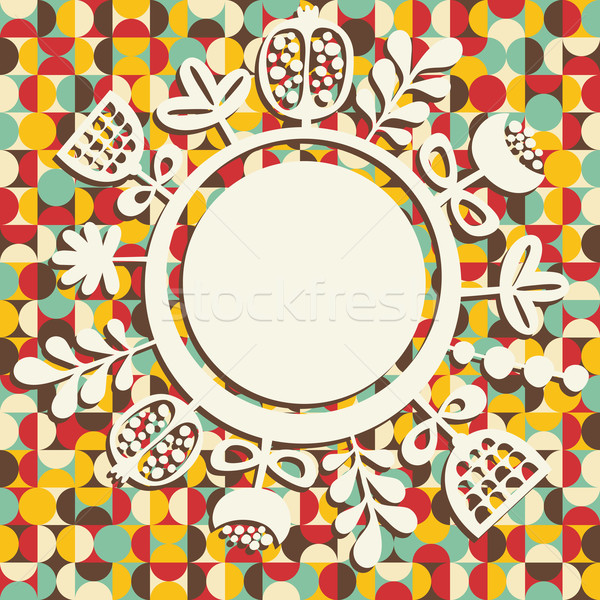 Banner retro bloem voorjaar bruiloft ontwerp Stockfoto © ekapanova