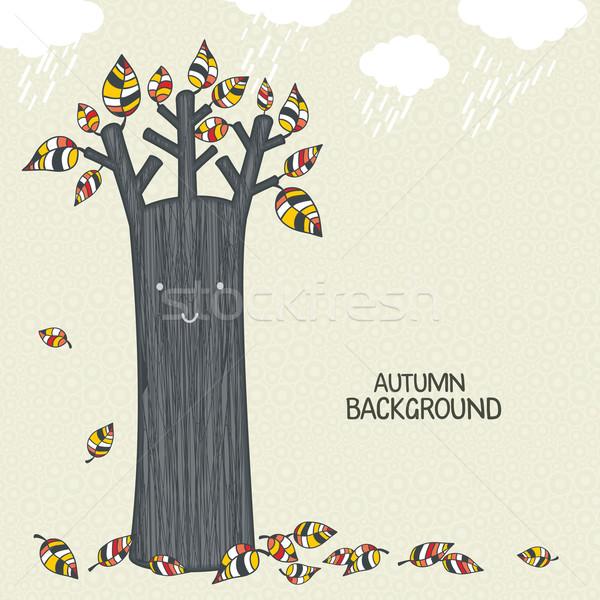 Stock photo: Beautiful autumn tree background.