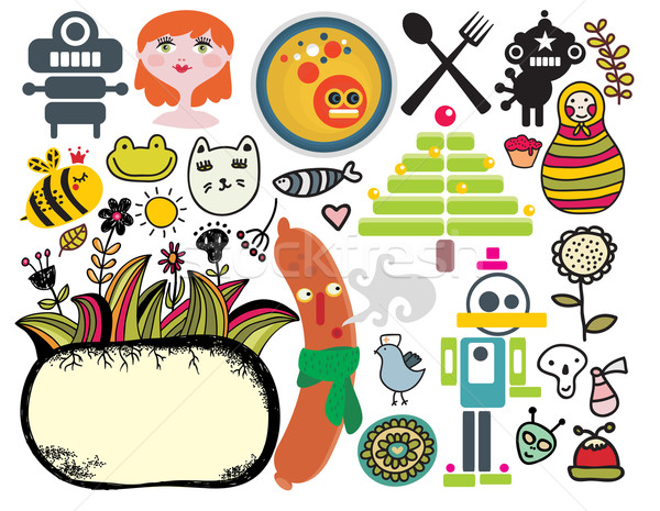 Mix of different vector images and icons. vol.33 Stock photo © ekapanova