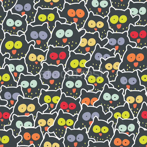 Crowd of owls. Stock photo © ekapanova