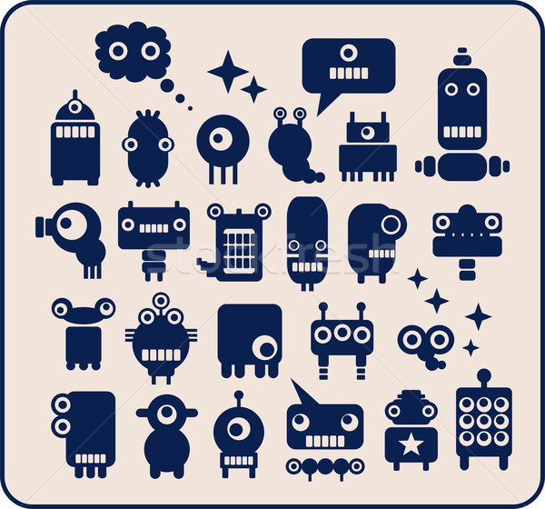 Robots collection #2. Stock photo © ekapanova