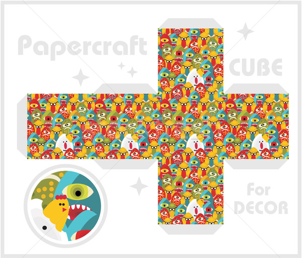 Paper cube for children games and decoration. Stock photo © ekapanova