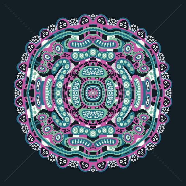 Psychedelic decoratief element vector kleurrijk illustratie Stockfoto © ekapanova