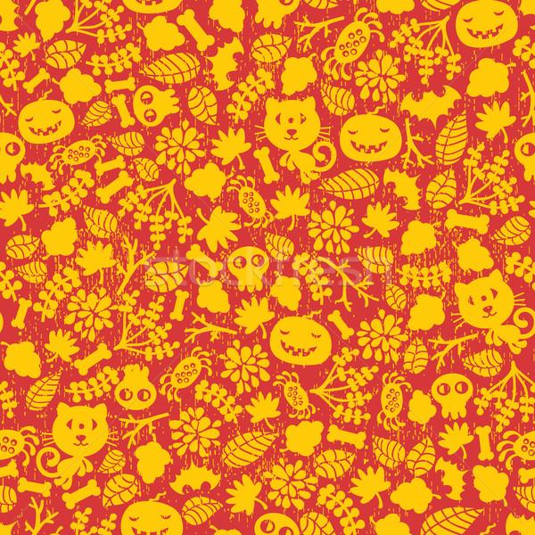 Seamless Halloween background. Stock photo © ekapanova