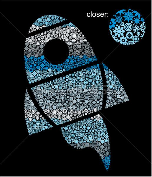 Statek kosmiczny kwiaty niebo tekstury niebieski Zdjęcia stock © ekapanova
