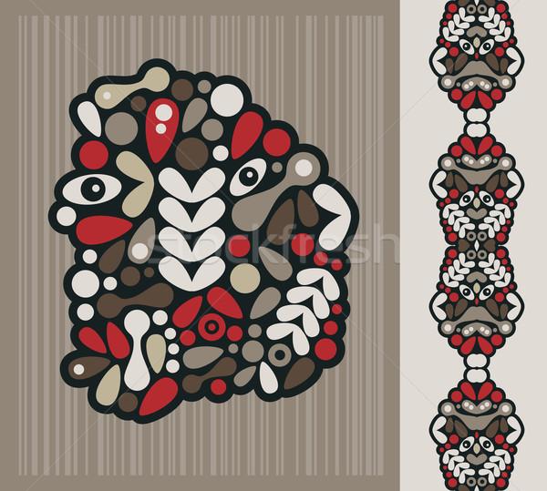 Extrano cabeza vector ilustración Foto stock © ekapanova