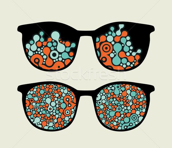 Retro óculos legal psicodélico reflexão tecnologia Foto stock © ekapanova