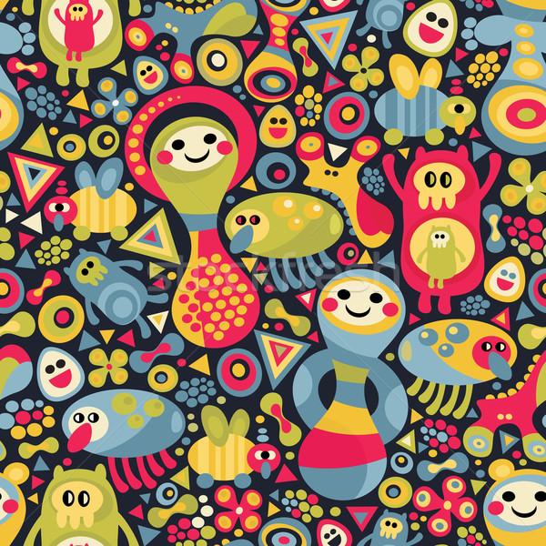 Сток-фото: Cute · Монстры · вектора · красочный · текстуры