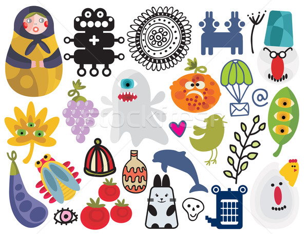 Stock photo: Mix of different vector images and icons. vol.23