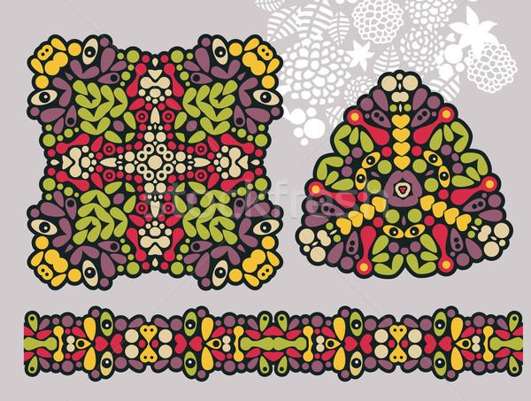 Decoración formas psicodélico ornamento sin costura vector Foto stock © ekapanova
