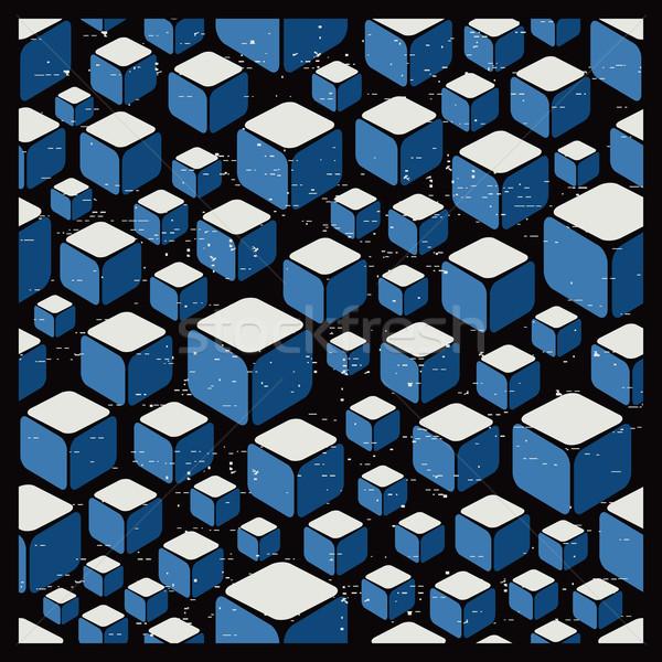 Stock fotó: Textúra · kockák · retró · stílus · végtelenített · absztrakt · vektor