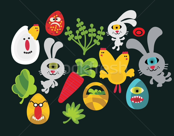 Stock photo: Easter characters for your design.