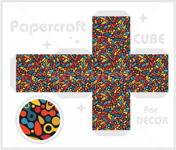 Papier kubus kinderen games decoratie textuur Stockfoto © ekapanova