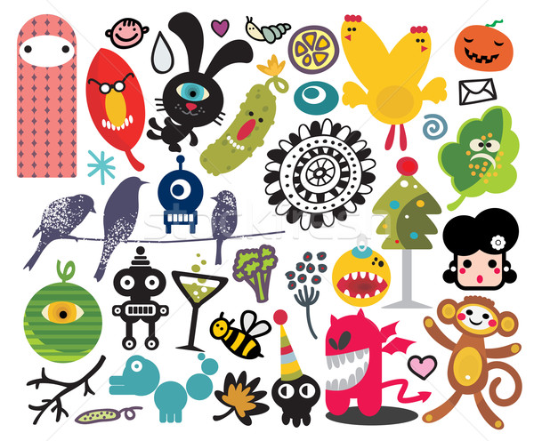 Stock photo: Mix of different vector images and icons. vol.21