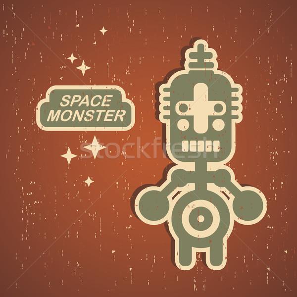 Vintage monstre rétro robot illustration vecteur Photo stock © ekapanova