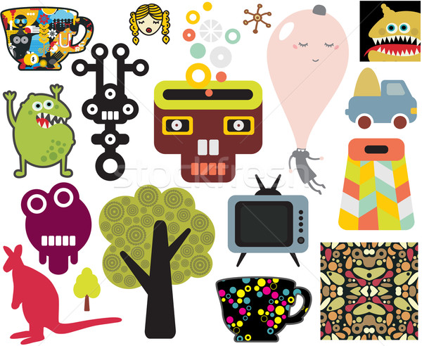 Mix of different vector images and icons. vol.63  Stock photo © ekapanova