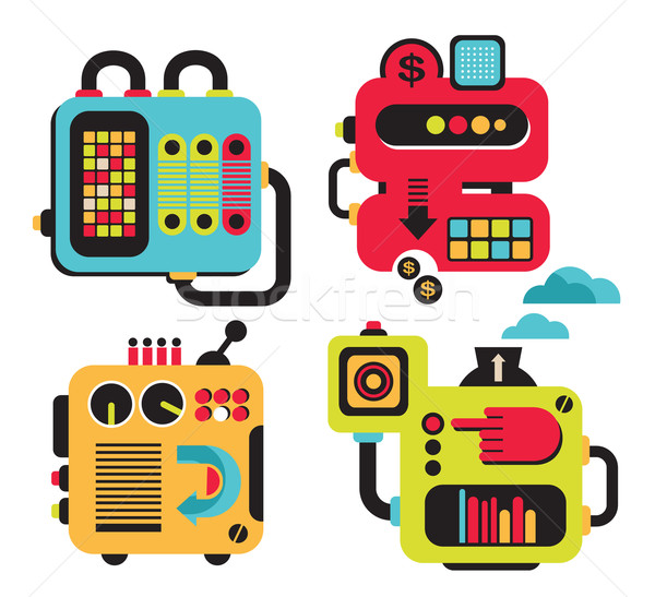 Cartoon machines.  Stock photo © ekapanova
