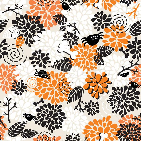Seamless pattern for the better halloween.  Stock photo © ekapanova