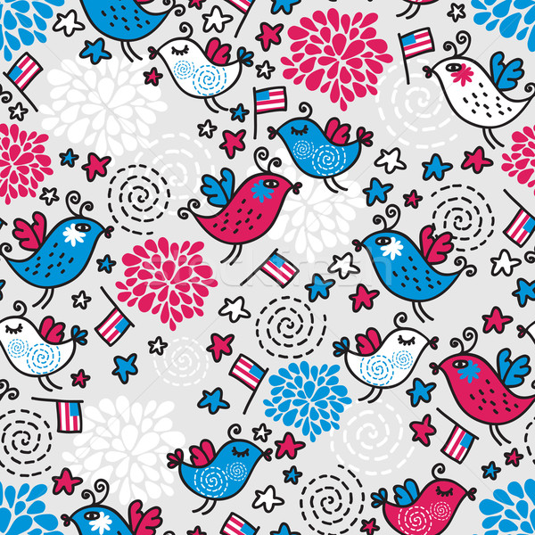 Seamless pattern of Independence Day.  Stock photo © ekapanova