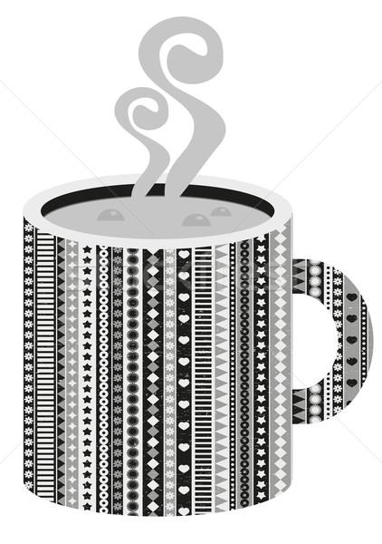 Cup tazza di caffè caffè fiore cuore bere Foto d'archivio © ekapanova