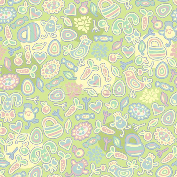 Stock photo: Easter nice seamless pattern.