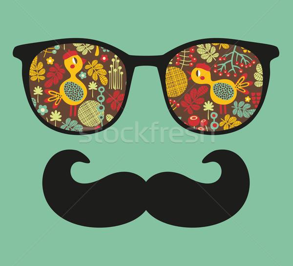 Retro occhiali da sole riflessione isolato Foto d'archivio © ekapanova
