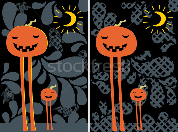 Halloween pumpkins. Stock photo © ekapanova