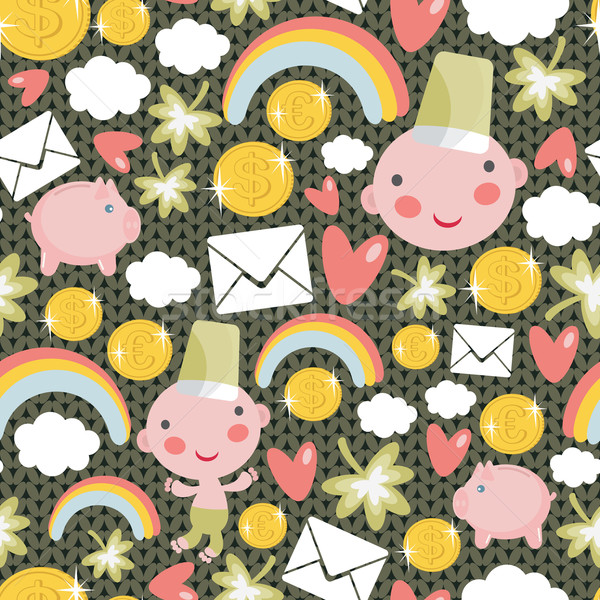 Pattern with characters for St. Patrick`s Day. Stock photo © ekapanova
