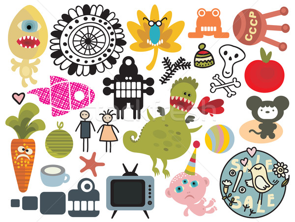 Mix of different vector images and icons. vol.26 Stock photo © ekapanova