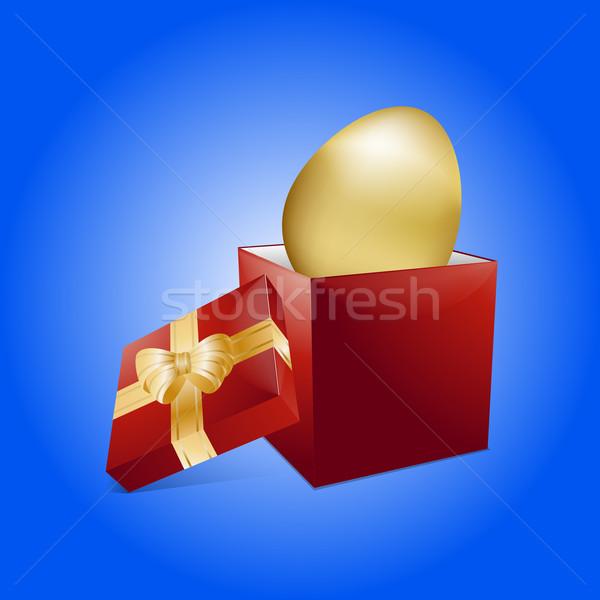 Wielkanoc złote jajka szkatułce złoty 3D easter egg Zdjęcia stock © elaine