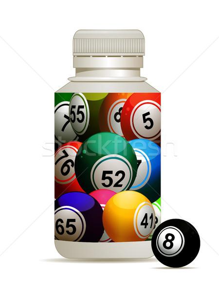 Bingo loteria butelki 3d ilustracji pigułki Zdjęcia stock © elaine
