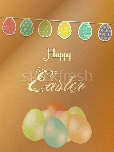 Ouă de Paşti hartie de ambalaj paste fericit ou text Imagine de stoc © elaine