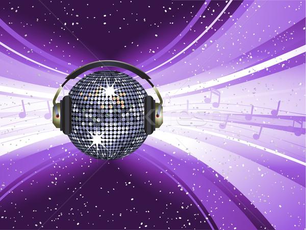 disco licht explosie bal paars achtergrond vector illustratie elaine barker. Black Bedroom Furniture Sets. Home Design Ideas