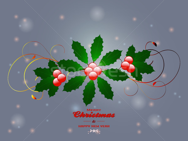 Christmas flourish over glowing background Stock photo © elaine