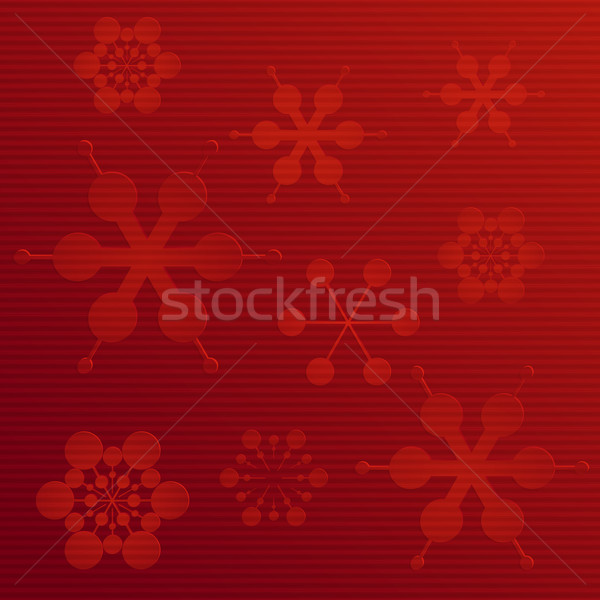 embossed paper snowflake background on red Stock photo © elaine
