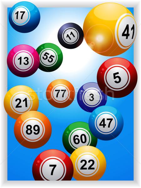 Bingo portret paneel Blauw lens Stockfoto © elaine