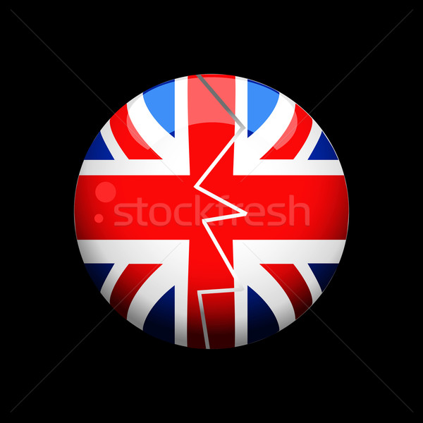 Törött brit gömb fekete repedt Stock fotó © elaine