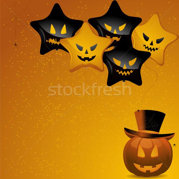 Stockfoto: Halloween · ballonnen · pompoen · top