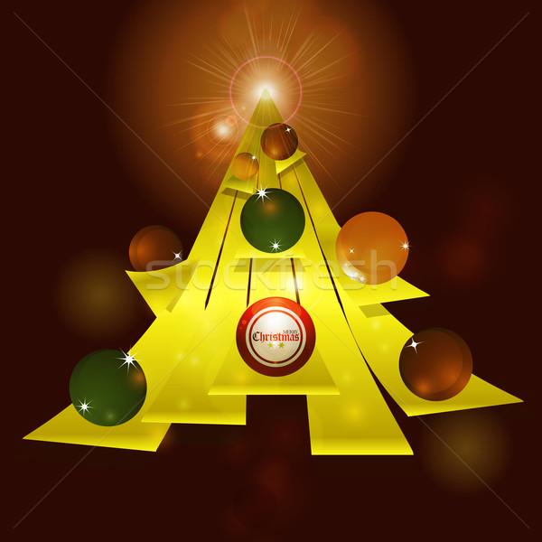 抽象的な クリスマスツリー 黄色 文字 ツリー ストックフォト © elaine